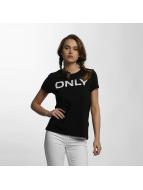 Only T-Shirt onlLive Love Trendy schwarz