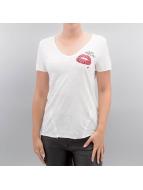 Only T-shirt onlAugusta Lips/Eyes vit