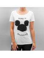 Only T-shirt onlMinnie/Mickey Winter vit