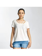 Only T-Shirt onlLeah Bone weiß