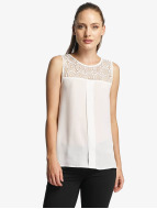 Only Tops sans manche onlVenice Lace blanc