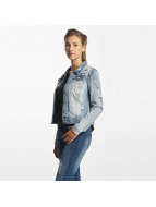 Only onlChris Print Denim Jacket Light Blue Denim