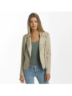 Only Veste & Blouson en cuir onlAva Faux Leather Biker beige