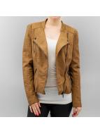 Only Veste en cuir onlAva Faux Leather brun