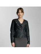Only Veste en cuir onlCarly noir
