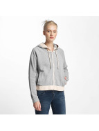 Only onlJanna Zip Hoody Light Grey Melange