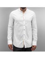 Open Emin Shirt White1/Mustard
