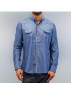 Open Breast Pocket Shirt Sax Blue