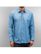 Open Hemd Flow blau
