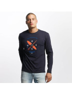 Oxbow Maglietta a manica lunga Tarbo blu