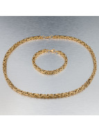 Paris Jewelry Kette Bracelet 22cm and Necklace 60cm goldfarben