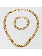 Paris Jewelry ketting Bracelet 22cm and Necklace 60cm goud