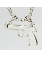 Paris Jewelry ketting Pistol zilver
