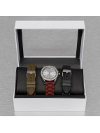 Paris Jewelry Reloj Set marrón