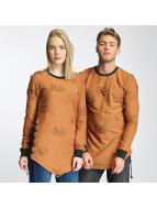 Paris Premium Destroyed Sweatshirt Camel