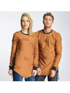 Paris Premium Destroyed Sweatshirt Camel