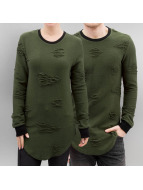 Paris Premium Used Sweatshirt Olive/Black