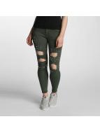 Paris Premium Denim Skinny Jeans Olive