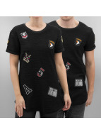 Paris Premium T-shirt longoversize Tulsa noir