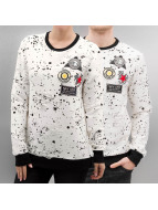 Paris Premium Patches Sweatshirt White/Black