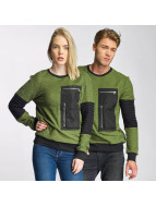 Paris Premium Pocket Sweatshirt Olive/Black