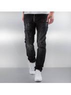 Pascucci Jeans Straight Fit Patt noir