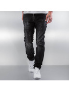 Pascucci Straight Fit Jeans Patt black