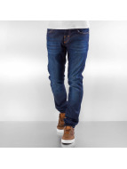 Pascucci Straight fit jeans Lein blauw