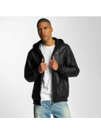 Pelle Pelle Chaqueta de entretiempo Mix-Up Padded Hooded negro