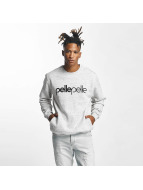 Pelle Pelle Jumper Back 2 Basics Crew Neck grey