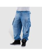 Pelle Pelle Pantalon cargo Denim bleu