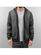Pelle Pelle Transitional Jackets Mix-Up Hooded svart