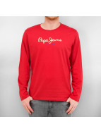Pepe Jeans T-Shirt manches longues Eggo rouge