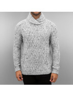 Petrol Industries Pullover Knit Fancy Collar blanc