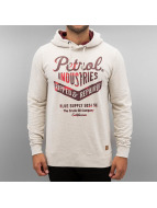 Petrol Industries Sweat à capuche Ripped & Repaired blanc