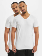 Petrol Industries T-Shirt Bodyfit Basic 2 Pack blanc