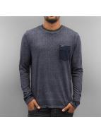 Petrol Industries T-Shirt manches longues Pocket bleu