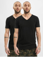 Petrol Industries T-Shirt Bodyfit Basic 2 Pack noir