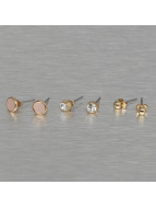 Pieces pcMalle New Basic Earstud Set Golden