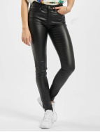 Pieces PCFive Betty Coated Jeans Black