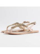 Pieces Chanclas / Sandalias PSCarmen Leather beis