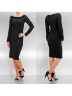 Pieces jurk Off Shoulder zwart