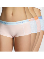Pieces Lingerie pcLogo 4-Pack multicolore
