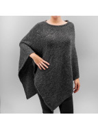 Pieces Pullover pcPersillan Poncho grau