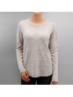Pieces Pullover PCDanny Mohair Knit grau