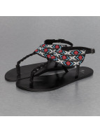 Pieces Sandalen psCarol Leather schwarz