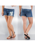 Pieces Short Just Lucia Denim blue