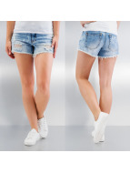Pieces Shorts pcJust Thilde blau