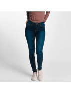 Pieces Skinny jeans pcFive Bettysoft Mid Waist blauw