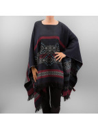Pieces Strickjacke pcPoula Poncho blau